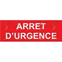 PLAQUE ARRET D'URGENCE