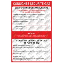 CONSIGNE SECURITE GAZ