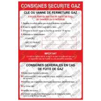 CONSIGNE SECURITE GAZ