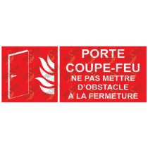PLAQUE PCF NE PAS METTRE D'OBSTACLE A LA FERMETURE