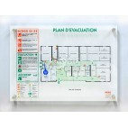 PLAN EVACUATION A3 PLEXIGLAS 6MM