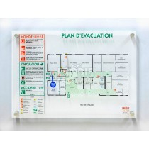 PLAN EVACUATION A3 PLEXIGLASS 6MM