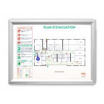 PLAN EVACUATION A2 CADRE AMOVIBLE CLIC CLAC