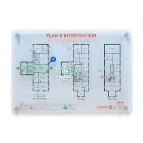 PLAN INTERVENTION A3 PLEXIGLAS 6MM