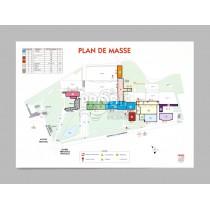 PLAN DE MASSE A1 PLASTIFIÉ 5/10ème